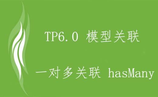 TP6.0 一对多模型关联 hasMany