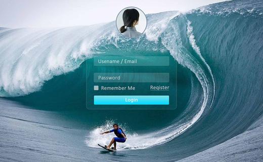 登录页面模板推荐